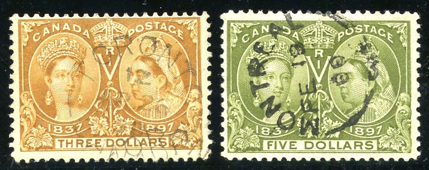 Lot 762 ex superbe collection Canada obliterée, adjugé 8000.-