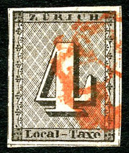 Lot 364, fantastique 4 de Zurich (N°1S), adjugé 10'500.-